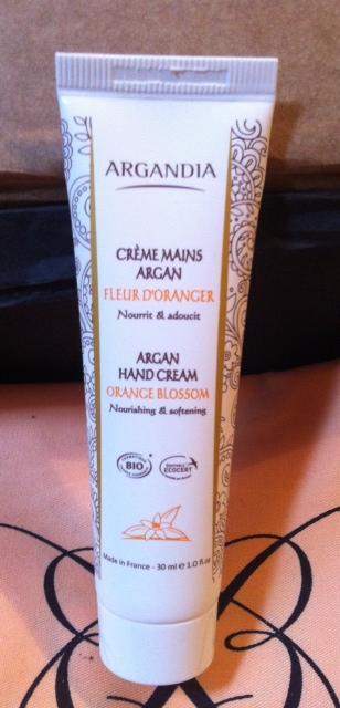 Crèmes Mains Argan à la fleur d'Oranger. Le plus c'est certifié bio!
